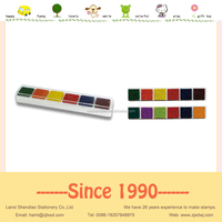 6 colors ink pad perfect medium stamp pad