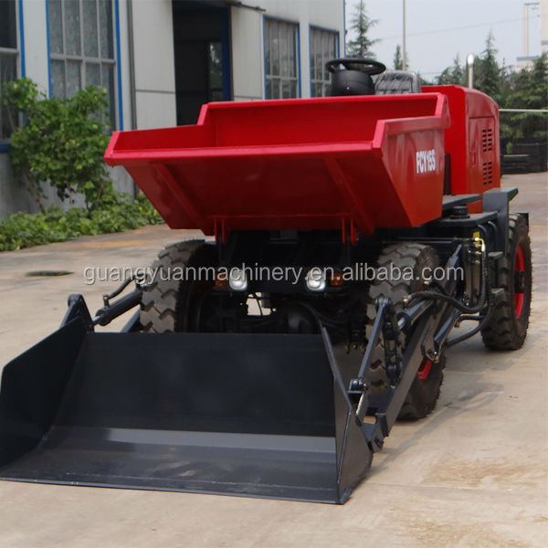 1.5 Ton front small dumper with self-loading bucket