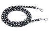 Reflective Nylon Braided Dog Leash with Two Hooks