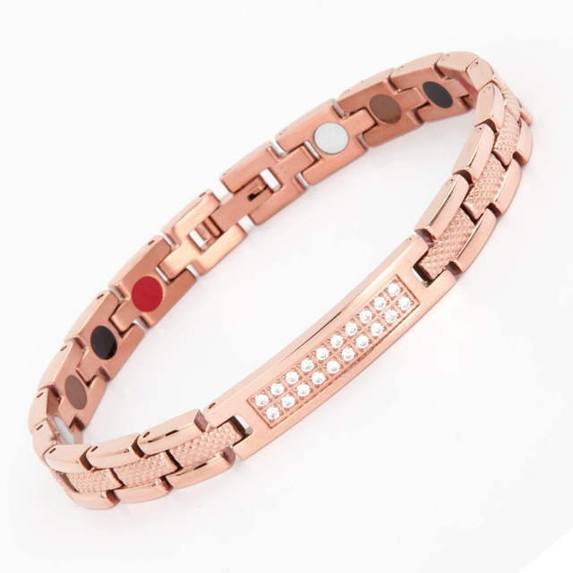 Korea hot sell snake finish CNC zircon inlay healthy magnetic necklace and bracelet set