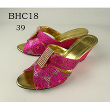 BHC18 Queency GuangZhou Supplier Latest African Fashion Ladies Party Wear Shoes High Heel Sandals