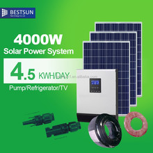 BestSun High Frequency 4KW 48VDC BPS-4000M System, Off grid Solar Power system with Inverter 4000w