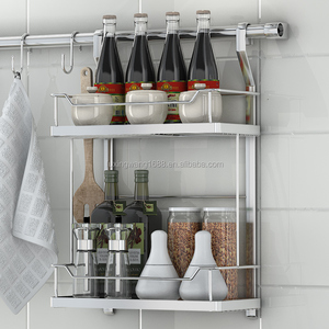 Wall Mounted Wire Metal Kitchen Spice Rack hanging wire spice rack