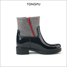 TongPu Newest PVC girls fashion shoes felt fabric black Alibaba Casual shoes