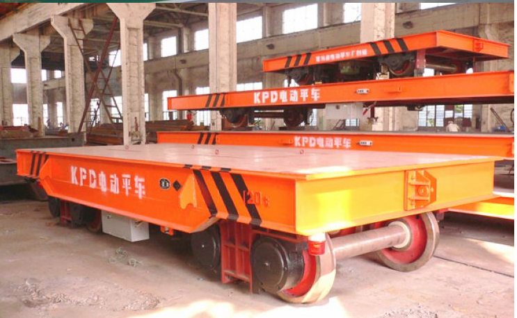 KPD Series Electric Flat Car as transporter used in factory