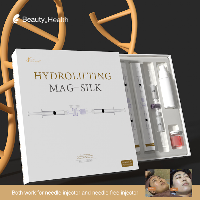 Luxury material delivery beauty machine peptides micro collagen mix hyaluronic acid serum