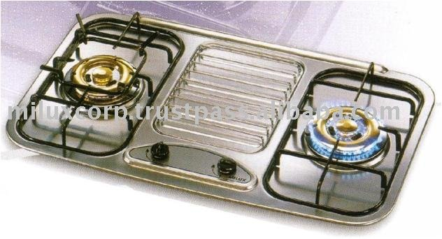 Milux 2 Burners Built In Stainless Steel Hob