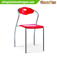 Cheap metal frame modern plastic chair