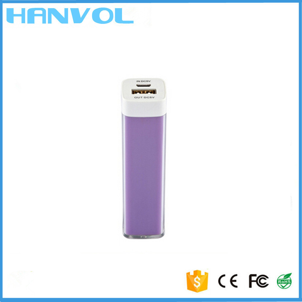 New products 2600mAh lipstick electronics mobile phone power bank