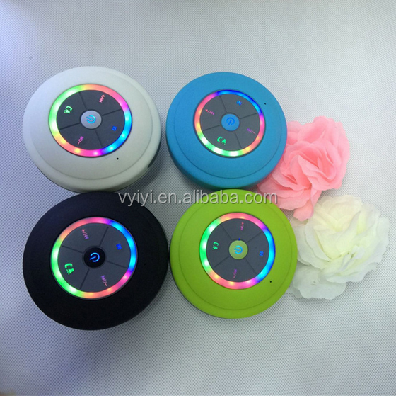 Hot Wholesale LED Waterproof BT Speaker with FM Raido, Handsfree Portable Wireless Mini Speaker BTS-09 Supports TF Card
