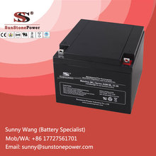 Deep Cycle AGM Battery 12v 26ah as backup power supply for computers control center
