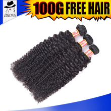 Afro kinky curly hair free shipping wholesale unprocessed brown blonde mix human hair