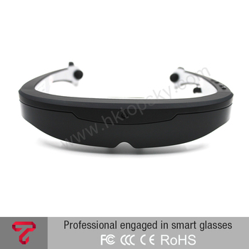 3D smart AR video glasses Android support bluetooth wifi wireless camera glasses
