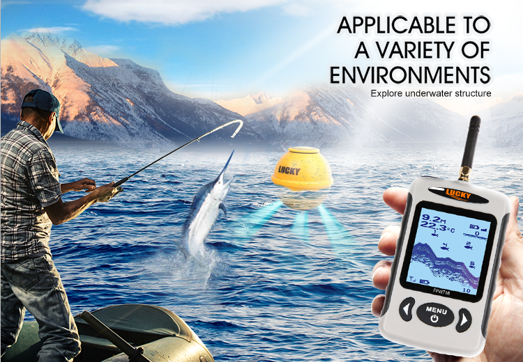 Lucky wireless FFW718B portable fishfinder transducer hot sale fish finder sonar for outdoor sport