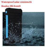 BS-100D New coming Promotional Waterproof Solar Power Bank 10000mah Mobile Solar Power With Compass