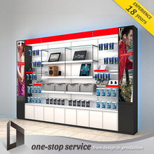 new design cell phone accessories display stand showcase for mobile phone kiosk store furniture shop design