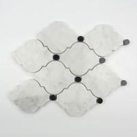New design natural marble mosaic tiles bathroom no-slip tiles white marble mosaics
