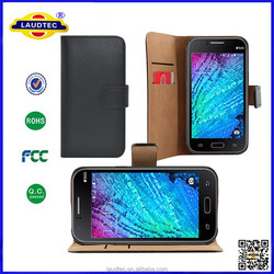 Genuine Leather Case for Samsung Galaxy J1, Luxury Wallet Case for Samsung J1