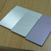 Popular brushed / bright silver / effects aluminum composite panels ACP Alucobond wall cladding