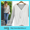 2015 latest V-neck women tops blouse office clothes thin chiffon summer shirt