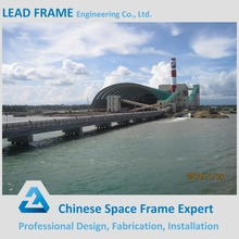 Space Frame Barrel Vault Bulk Materials coal stockpile cover