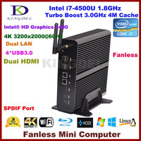 smart computer wholesale dual core 12v mini nettop pc four thread core i7 barebone mini desktop computer with Intel i7-4500U CPU