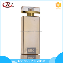 BBC Metallic Series - MF015 Good smell men royal golden glass bottles natural perfume for men