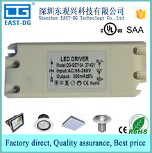 G5710 high PF LED driver 12w 250-320ma constant current adjustable external led driver power supply plastic case CE UL CUL SAA
