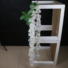 wedding decorative white silk artificial wisteria flowers garland wisteria vine