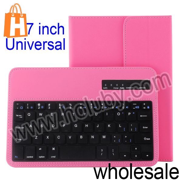 7 inch Leather Case+Wireless Bluetooth Keyboard for iPad Mini/Google Nexus 7/Samsung Galaxy Tab 3 P3200 P3210 P1000 P6200 P6800