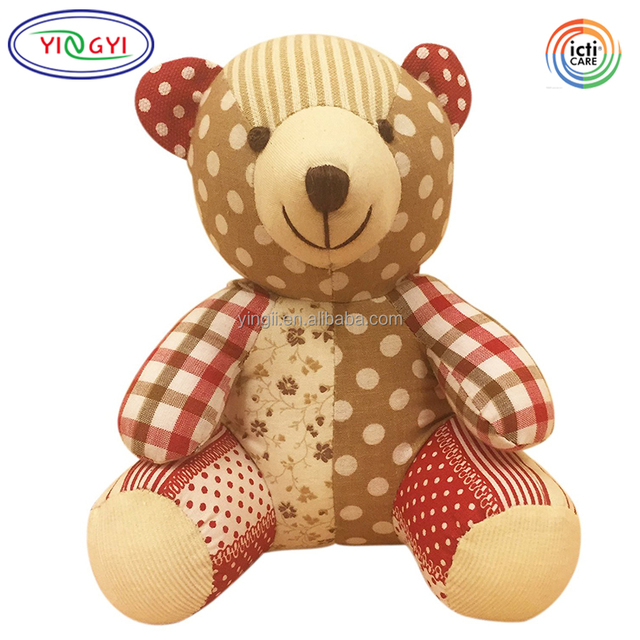 D176 Premium Cotton Body Bear Stuffed Toys Animal Soft Toy Teddy Plush Stuffed Toys Patterns