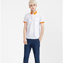 Youth relax fit comfortable white polo shirts