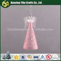 Finely processed wholesale home decor accessories light up glass angel