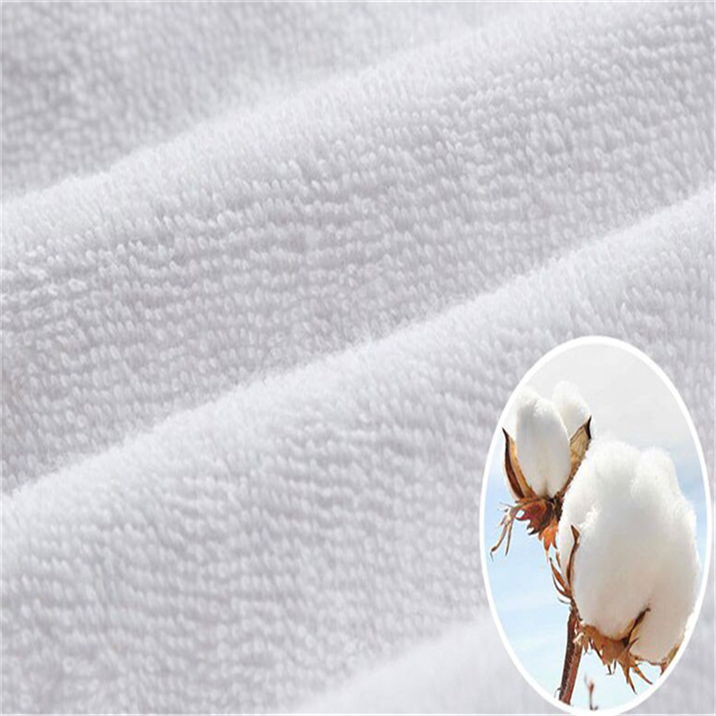 Soft Home Textile Cotton Terry TPU Laminated Film Waterproof <strong>Fabric</strong>
