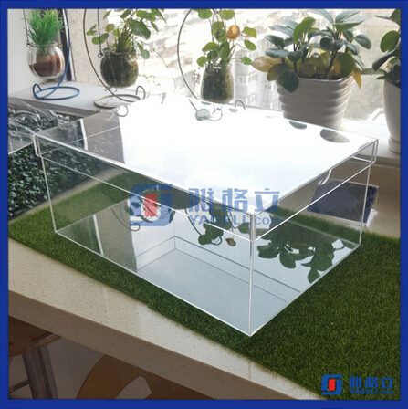Transparent plastic shoe storage boxes / clear acrylic shoe boxes / high quality plexiglass shoe box for package