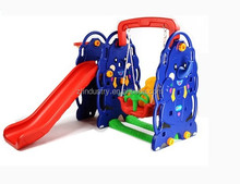 Cheap elephant plastic swing and slide combination for nursery school
