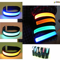 Led nylon flashing light armband