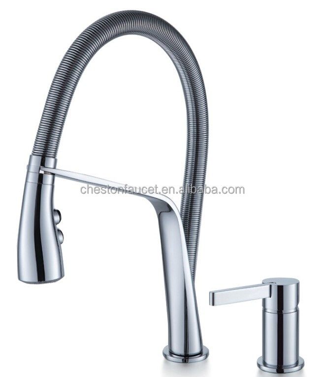 Single handle brass long neck Water Separate 2 Piece Kitchen Faucet 130084