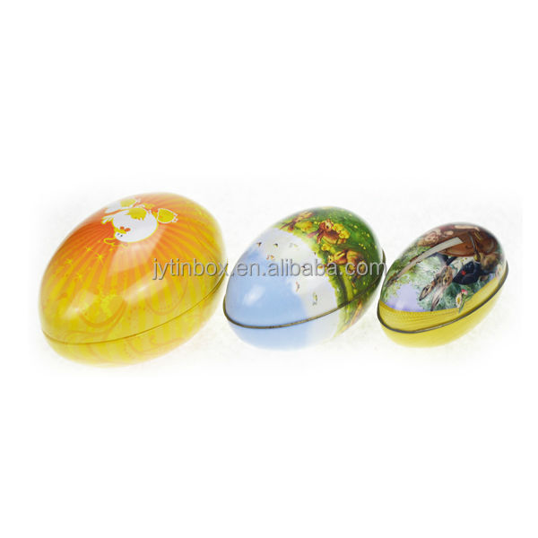 Recyclable Feature customized designed china factory directly tin box/round metal big capacity easter egg