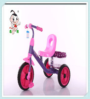 2016 new design three wheel children tricycle bike for sale with big seat