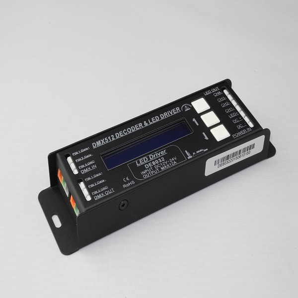 DC12V DC24V 3A 4CH 288W DMX 512 Control Signal DMX Controller 512 DMX 512 Decoder DMX512 Controller for LED Strip Light