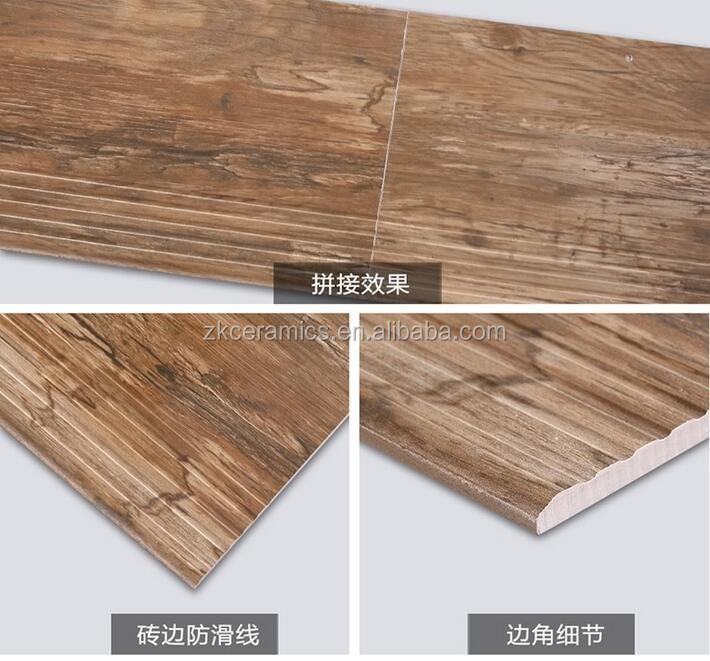Wooden Finished Interior Finish Anti Slip Stepping Stairs Tiles 300x1000/1200x170mm