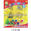 7 color 3G each acrylic emulsion paint set and suncatcher to be a unit of good quality drawing set