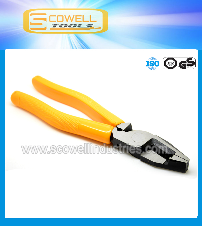 "8"" multi combination pliers for cable cutting CR-V steel drop forged"