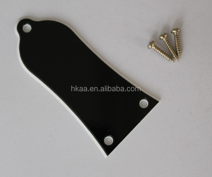 Black Aluminum Polished Truss Rod Cover Blank for Epiphone