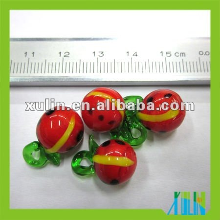 hand blown lampwork glass fruit jewelry beads