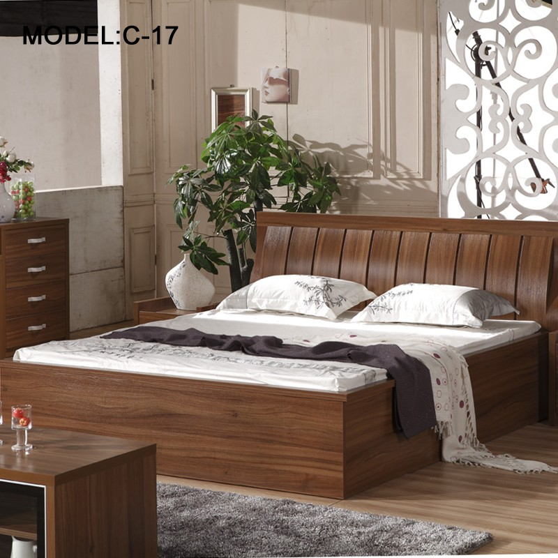 Modern Chinese bedroom furniture Double bed