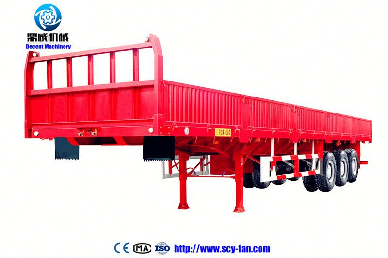 Hydraulic Suspension Steering Wind Blade flat bed Trailer for sale