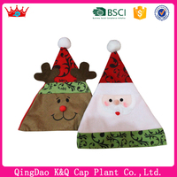 High Quality Decorated Animated Santa Hat With Cute Accessories