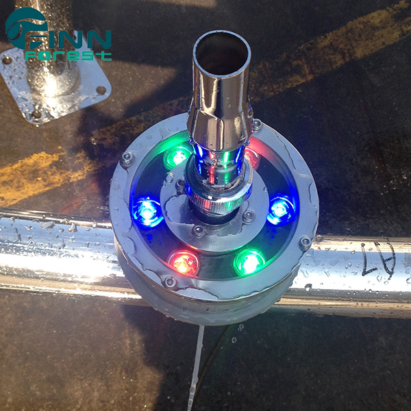 Light ring for fountain nozzle 6w waterproof RGB underwater led lights